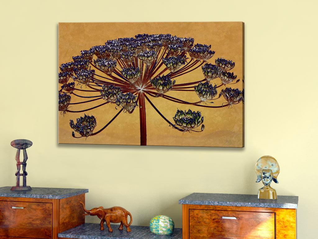 b renklaue 01 blumenbilder auf leinwand von h p kolb wandbilder naturbilder ebay. Black Bedroom Furniture Sets. Home Design Ideas