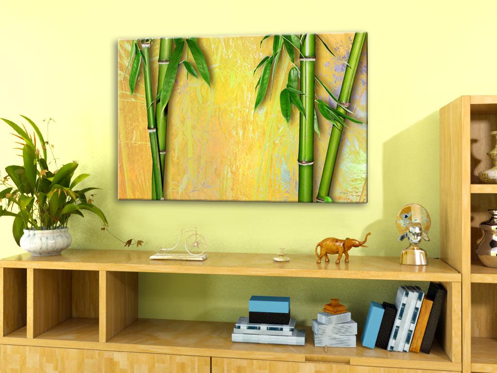 bambus 02 romantische landschaftsbilder auf leinwand wellness blumenbilder ebay. Black Bedroom Furniture Sets. Home Design Ideas