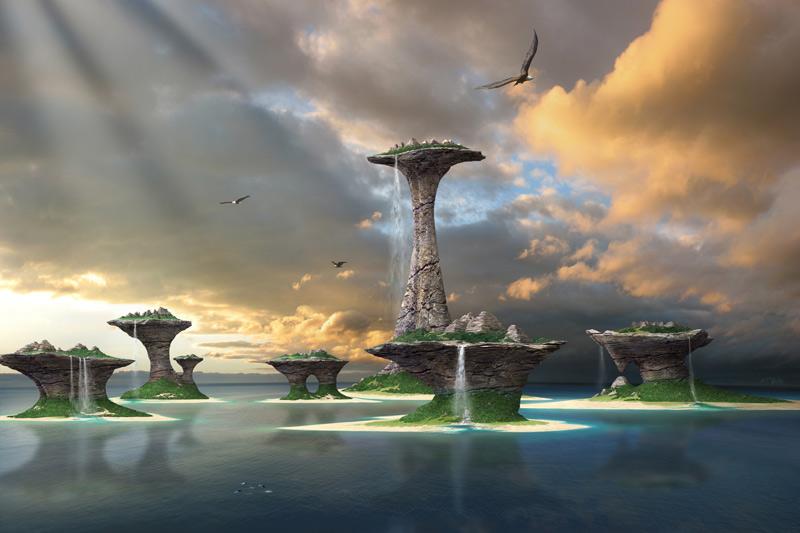 Beautiful island leinwand bild landschaftsbilder for Moderne landschaftsbilder