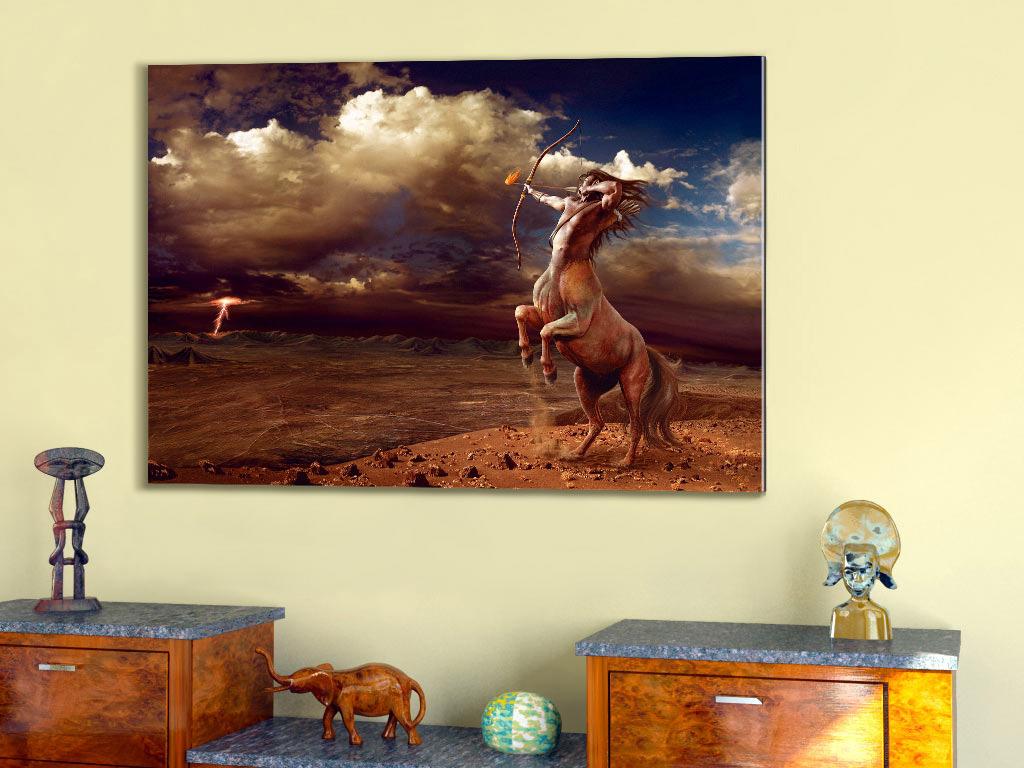 acrylglas bild sch tze tierkreiszeichen sternzeichenbilder zentaur astrologie ebay. Black Bedroom Furniture Sets. Home Design Ideas